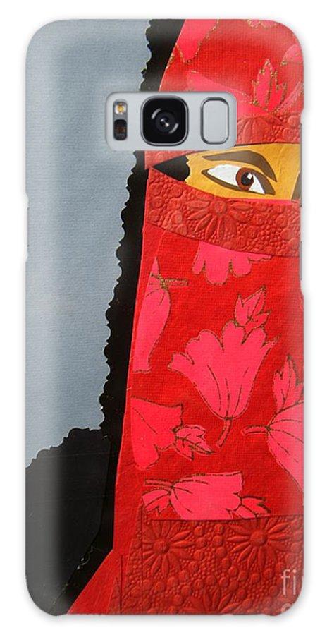 Woman Galaxy S8 Case featuring the mixed media Chador by Debra Bretton Robinson