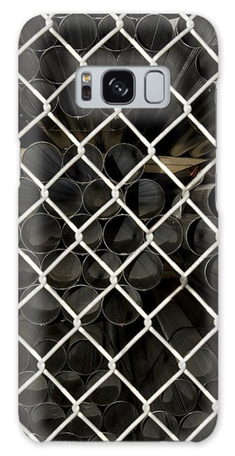 Fence Galaxy S8 Case featuring the photograph Chain Link Pipe by Sara Stevenson
