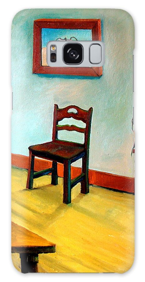 Apartment Galaxy Case featuring the painting Chair And Pears Interior by Michelle Calkins