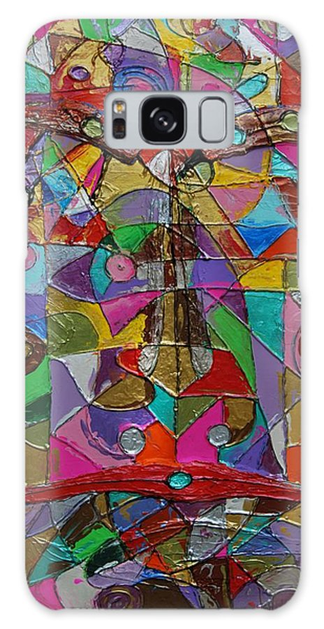 Abstract Galaxy S8 Case featuring the painting Chameleon by Erika Avery