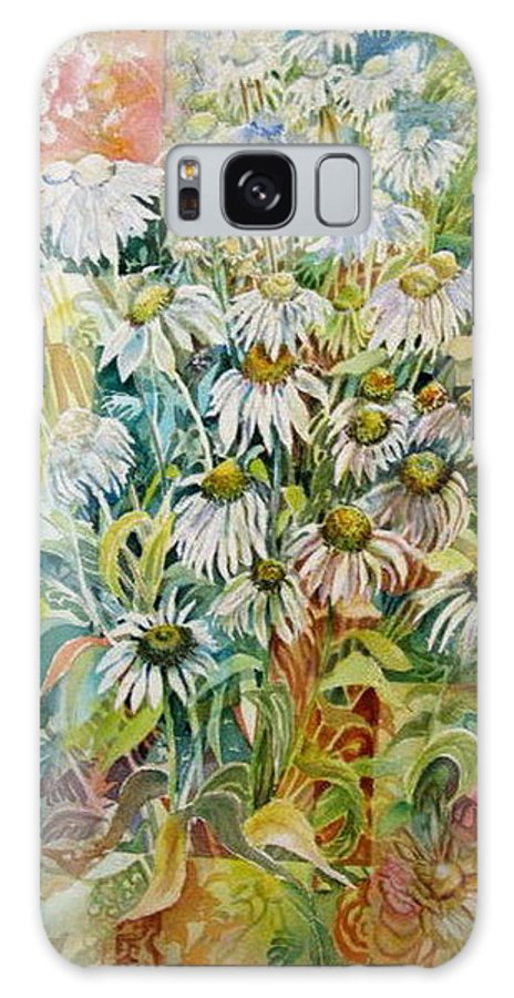 Art Galaxy S8 Case featuring the painting Chamomile by Therese AbouNader