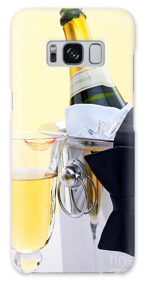 Champagne Galaxy S8 Case featuring the photograph Champagne Black Tie And Lipstick by Richard Thomas