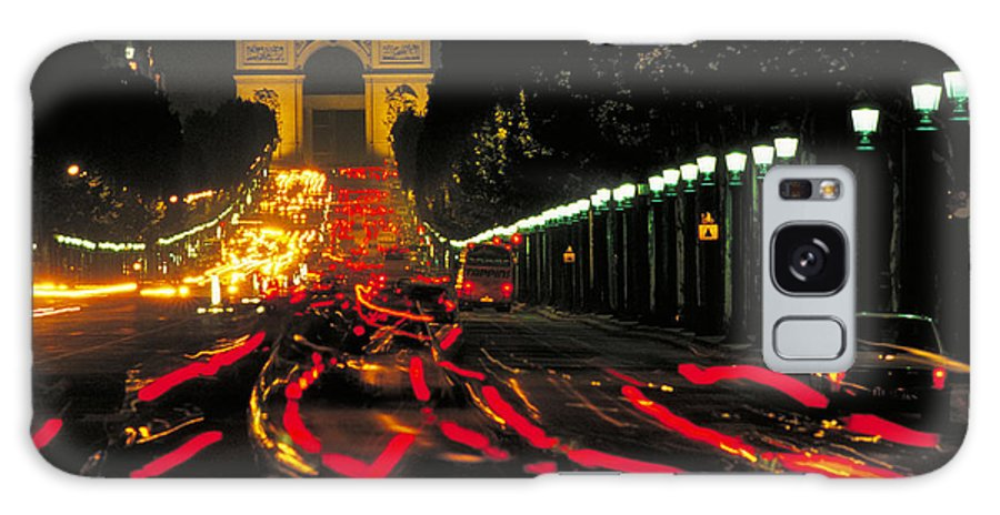 France Galaxy S8 Case featuring the photograph Champs Elysee In Paris by Carl Purcell