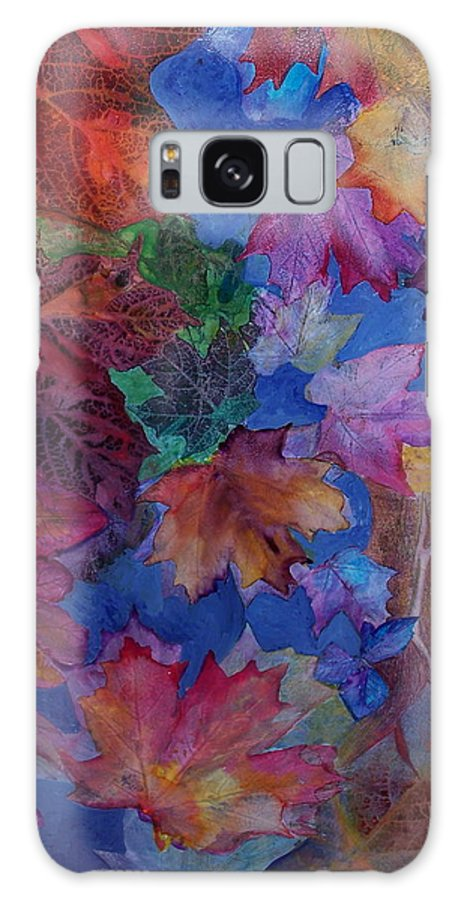 Leaves Galaxy Case featuring the mixed media Chaos In The Brain by Vijay Sharon Govender