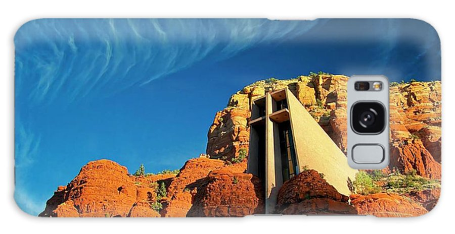 Chapel Of The Holy Cross Galaxy Case featuring the photograph Chapel of the Holy Cross, Sedona, Arizona by Zayne Diamond Photographic