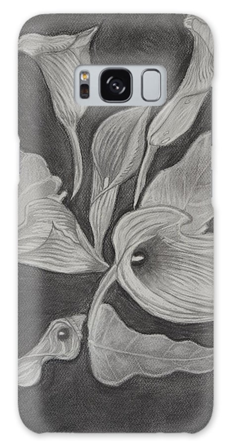 Nature Galaxy S8 Case featuring the drawing Charcoal by Gabriela Bacter