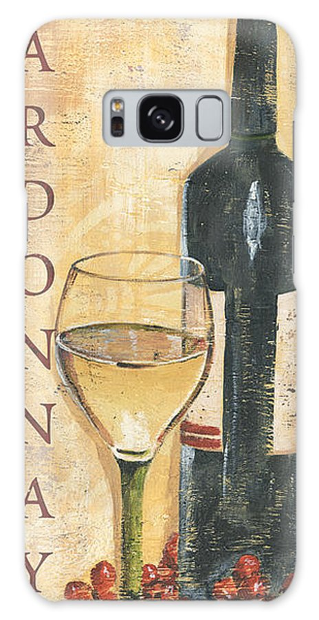 Wine Galaxy Case featuring the painting Chardonnay Wine and Grapes by Debbie DeWitt