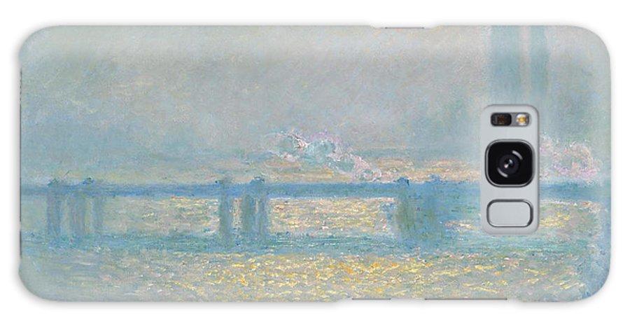 Charing Cross Bridge (overcast Day) Galaxy S8 Case featuring the painting Charing Cross Bridge by MotionAge Designs