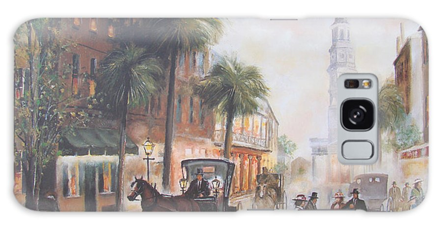 Charleston Galaxy S8 Case featuring the painting Charleston Somewhere In Time by Charles Roy Smith