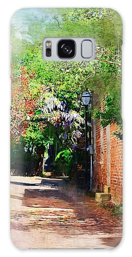 Alley Galaxy Case featuring the photograph Charlestons Alley by Donna Bentley