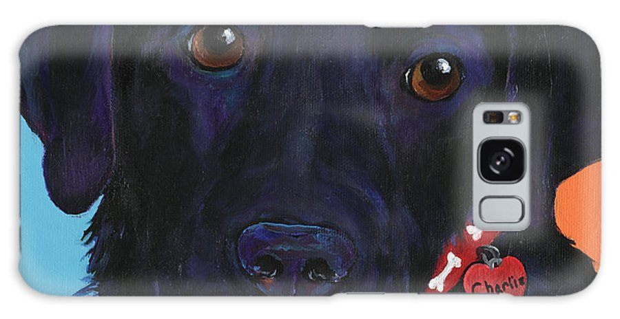 Dog Art Galaxy S8 Case featuring the painting Charlie by Pat Saunders-White