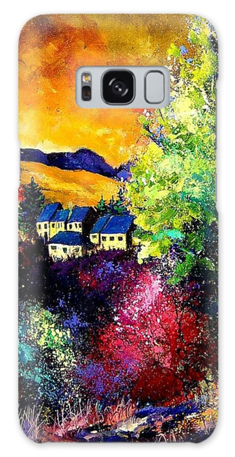 Landscape Galaxy S8 Case featuring the painting Charnoy by Pol Ledent