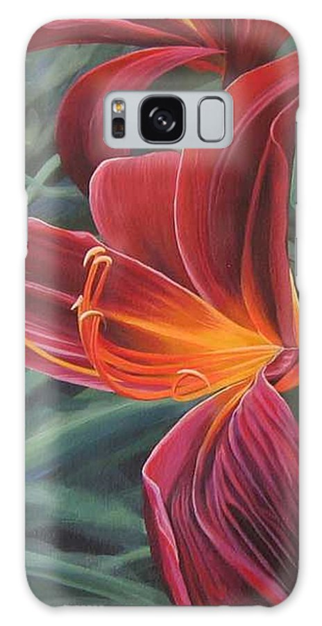 Lily Near Cheesman Park Galaxy Case featuring the painting Chase The Sun by Hunter Jay
