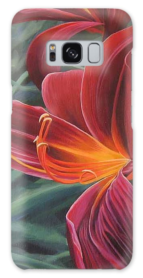 Lily Near Cheesman Park Galaxy S8 Case featuring the painting Chase the Sun by Hunter Jay