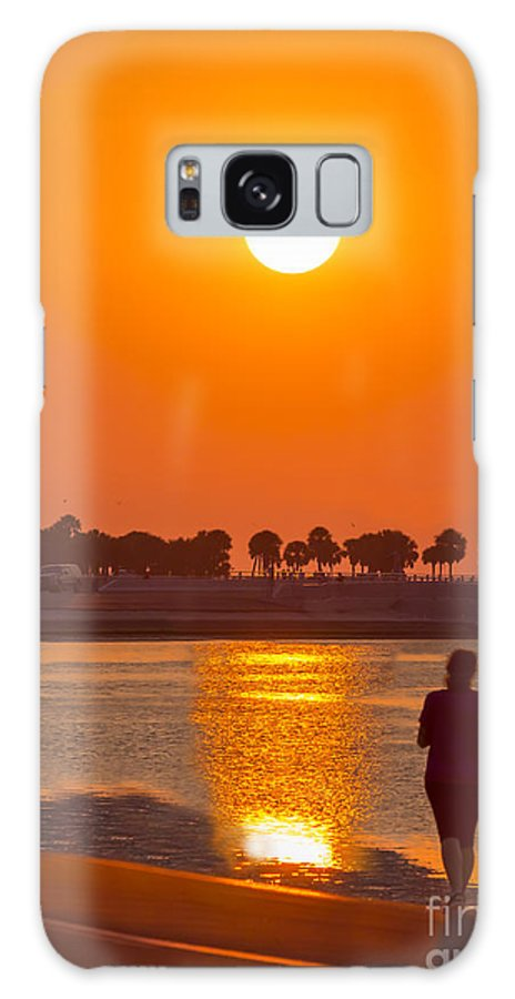Clouds Galaxy S8 Case featuring the photograph Chasing The Sunset by Marvin Spates