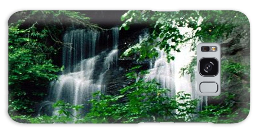 Landscape Galaxy S8 Case featuring the photograph Chattahoochee Waterfall by Vicky Brago-Mitchell