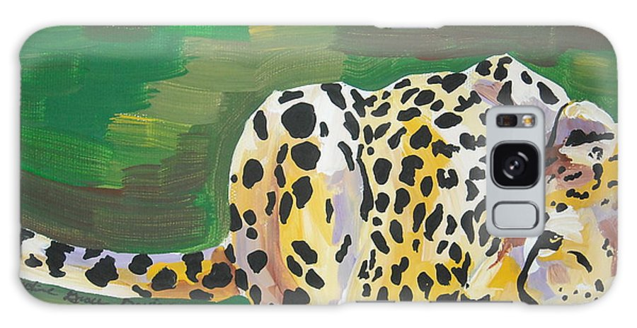 Cheetah Galaxy S8 Case featuring the painting Cheetah by Caroline Davis