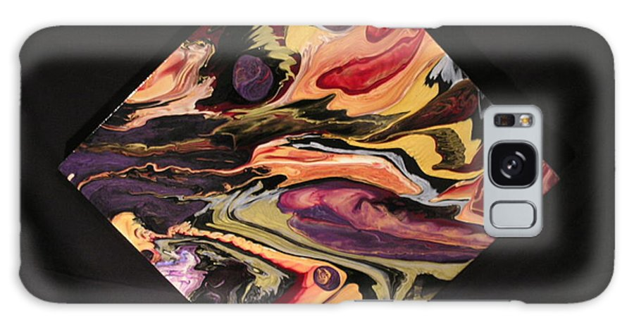 Abstract Galaxy Case featuring the painting Cherish The Day by Patrick Mock