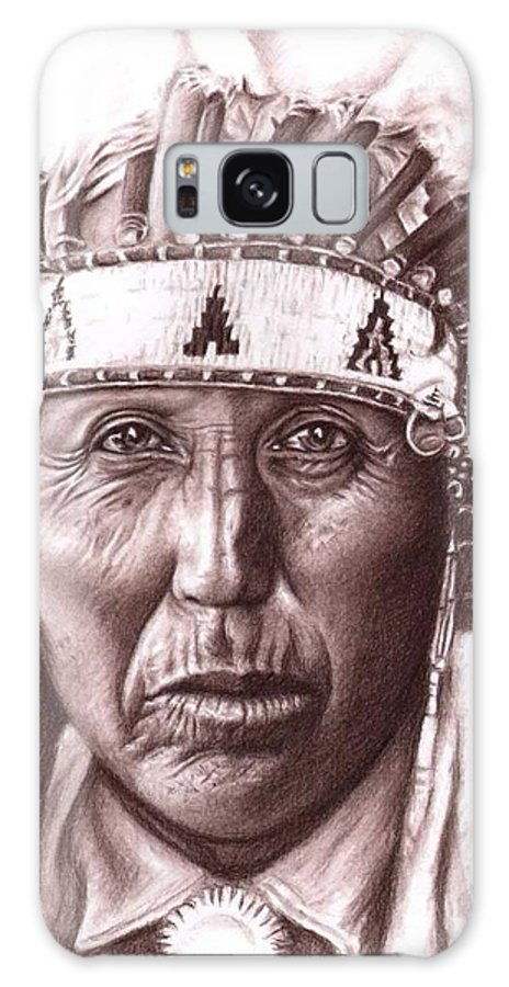 Indian Galaxy Case featuring the drawing Cherokee by Nicole Zeug