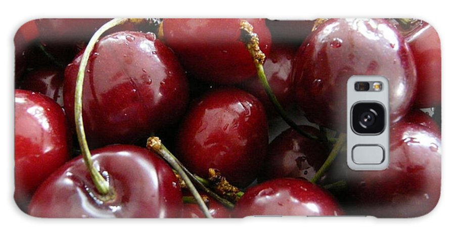 Cherries Galaxy S8 Case featuring the photograph Cherries by Valerie Ornstein