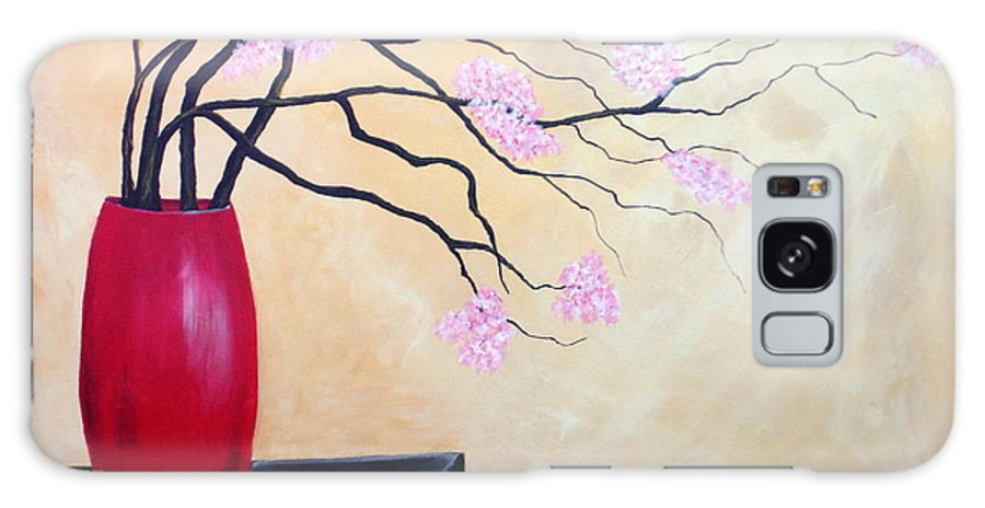 Oriental Galaxy S8 Case featuring the painting Cherry Blossoms by Susan Kubes