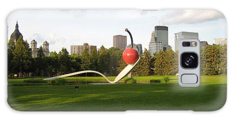 Cherry Bridge Sculpture Galaxy S8 Case featuring the photograph Cherry Bridge Sculpture by D Nigon