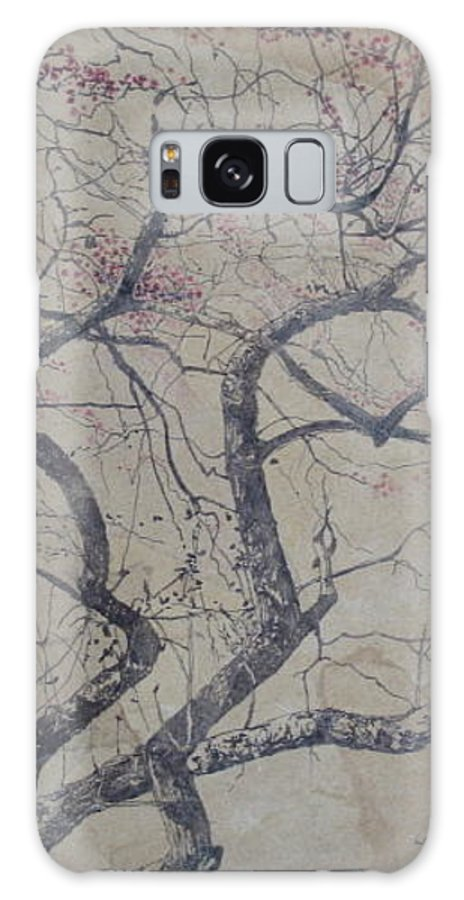 Crab Apple Galaxy Case featuring the painting Prairie Fire by Leah Tomaino