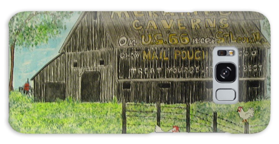 Chew Mail Pouch Galaxy S8 Case featuring the painting Chew Mail Pouch Barn by Kathy Marrs Chandler