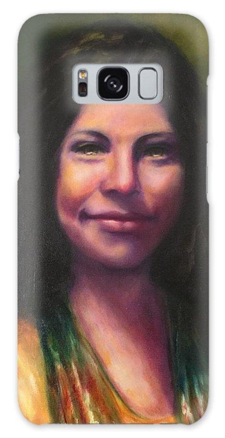 Cheyenne Hernandez Galaxy Case featuring the painting Cheyenne by Shannon Grissom