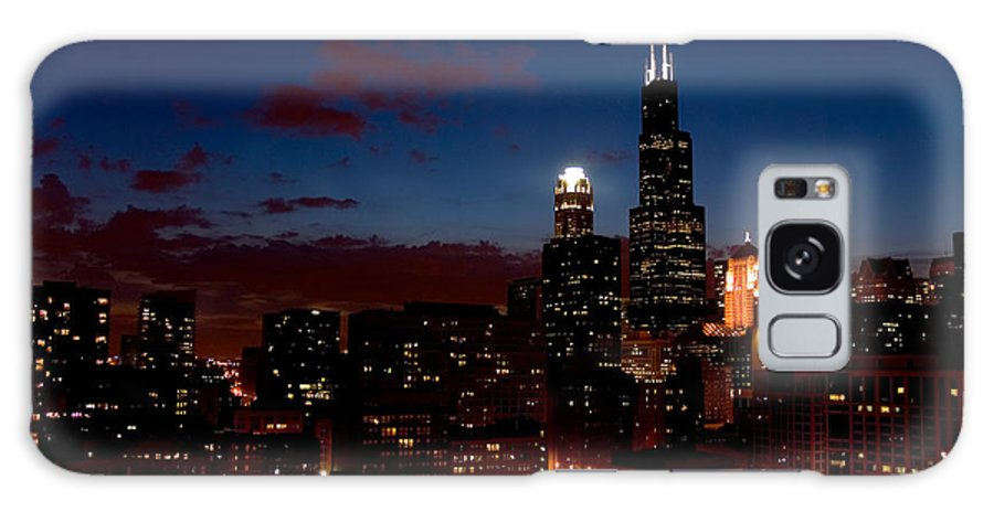 Chicago Galaxy S8 Case featuring the photograph Chicago At Night by Don Mennig