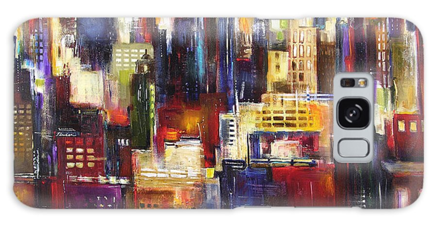Chicago Art Galaxy Case featuring the painting Chicago City View by Kathleen Patrick