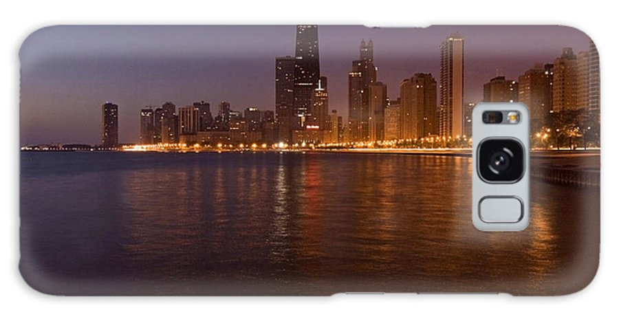 Chicago Skyline Galaxy Case featuring the photograph Chicago Dawn by Sven Brogren
