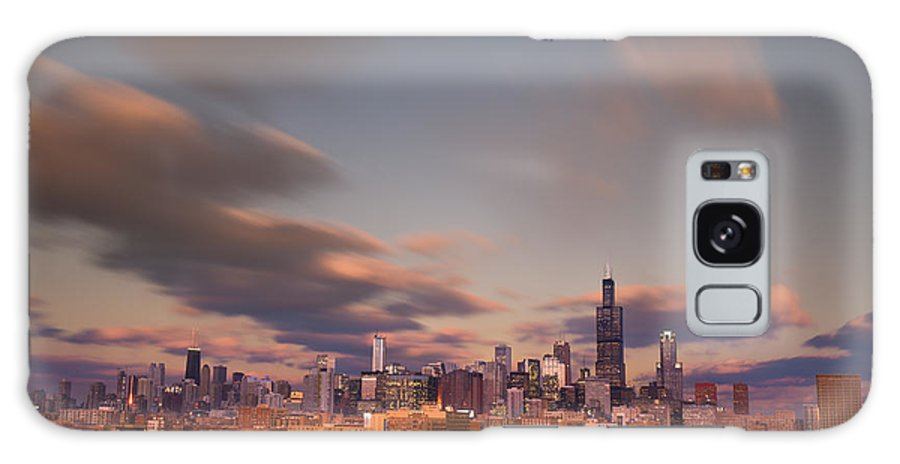 Loop Galaxy S8 Case featuring the photograph Chicago Dusk by Steve Gadomski