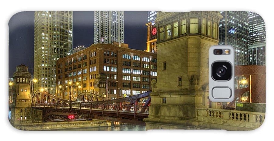 Bridge Galaxy S8 Case featuring the photograph Chicago La Salle Street Bridge by Barry Benton
