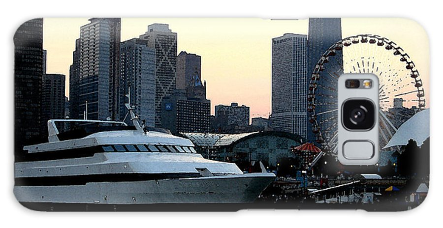 Photo Galaxy S8 Case featuring the photograph Chicago Navy Pier by Glory Fraulein Wolfe