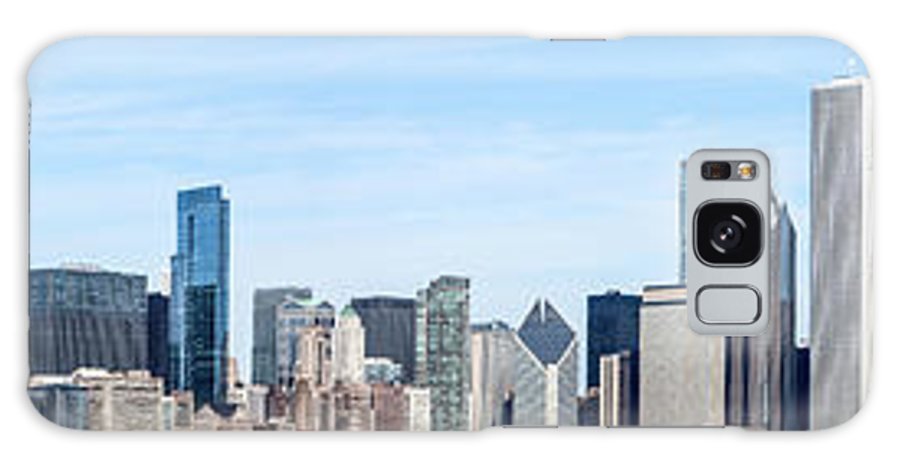 2011 Galaxy S8 Case featuring the photograph Chicago Panoramic Skyline High Resolution Picture by Paul Velgos