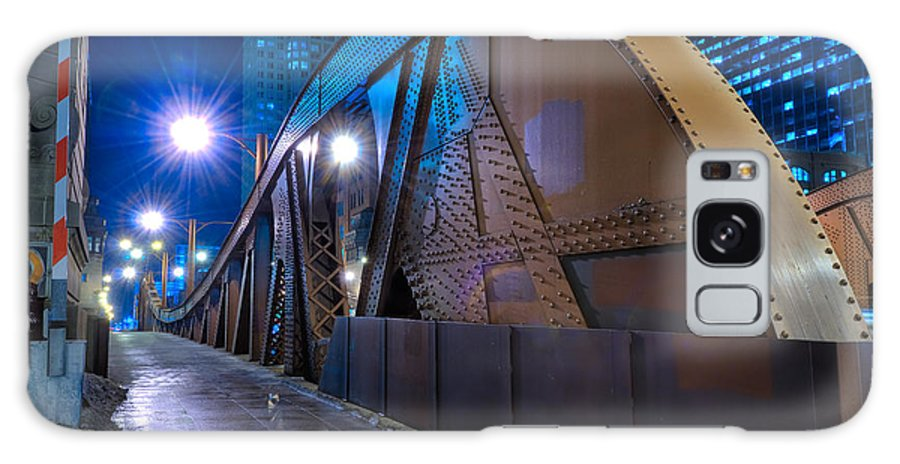 Bridge Galaxy S8 Case featuring the photograph Chicago Steel Bridge by Steve Gadomski