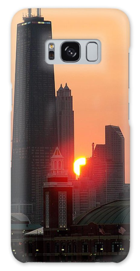 Photography Galaxy S8 Case featuring the photograph Chicago Sunset by Glory Fraulein Wolfe
