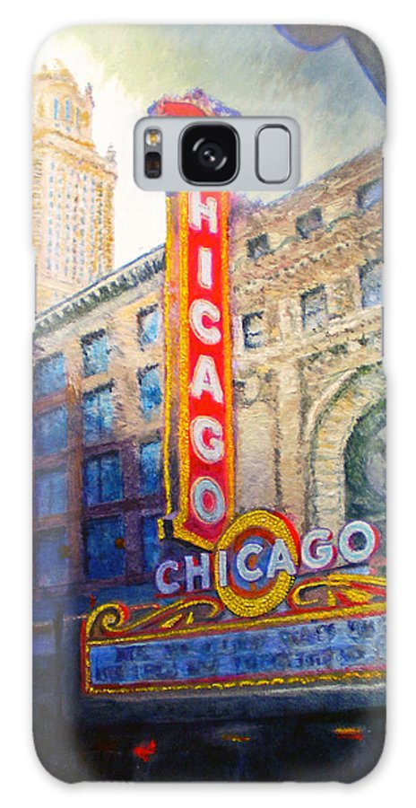 Chicago Galaxy S8 Case featuring the painting Chicago Theater by Michael Durst