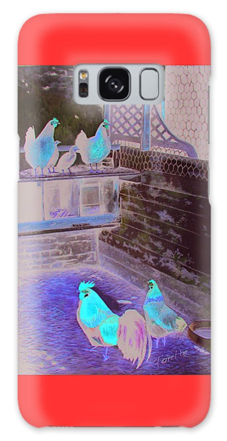 Far Galaxy S8 Case featuring the painting Chicken Coop by Ferrel Cordle