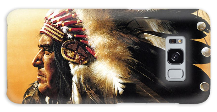 Native American Galaxy S8 Case featuring the painting Chief by Greg Olsen