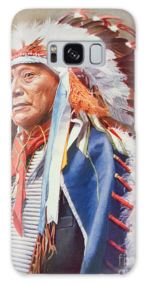 Chief Galaxy S8 Case featuring the painting Chief Hollow Horn Bear by American School