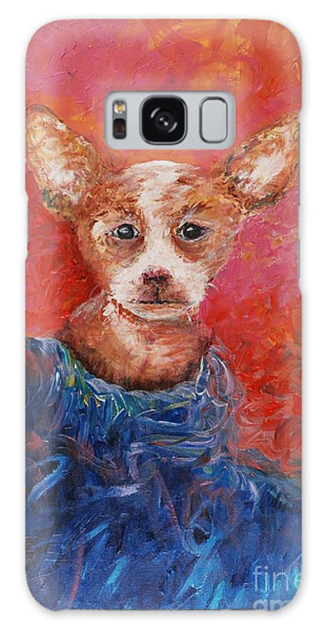 Dog Galaxy S8 Case featuring the painting Chihuahua Blues by Nadine Rippelmeyer