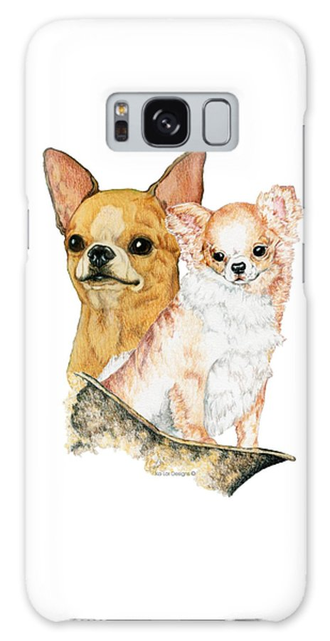 Chihuahua Galaxy Case featuring the drawing Chihuahuas by Kathleen Sepulveda