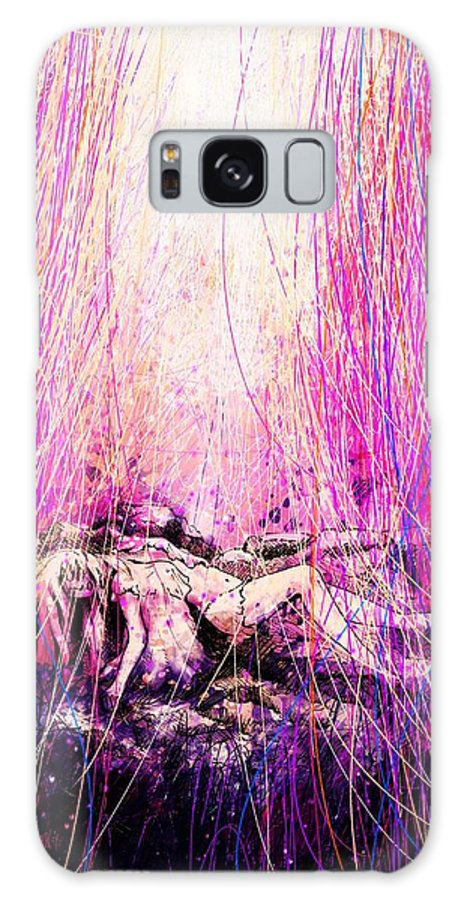 Abstract Galaxy S8 Case featuring the digital art Child Of God by Rachel Christine Nowicki