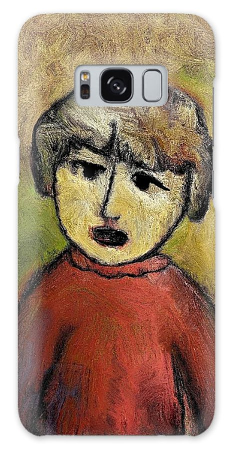 Portrait Galaxy S8 Case featuring the painting Child Portrait by Rafi Talby