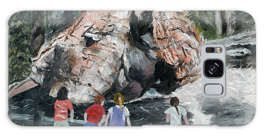 Children Galaxy S8 Case featuring the painting Children At Sequoia National Park by Quwatha Valentine
