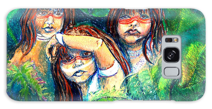 Children Galaxy S8 Case featuring the painting Children Of The Jungle by Diana Davenport
