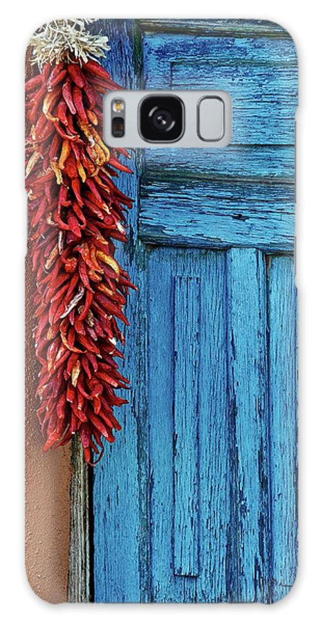 Southwest Galaxy Case featuring the photograph Chili Peppers and Door Panel by Zayne Diamond Photographic