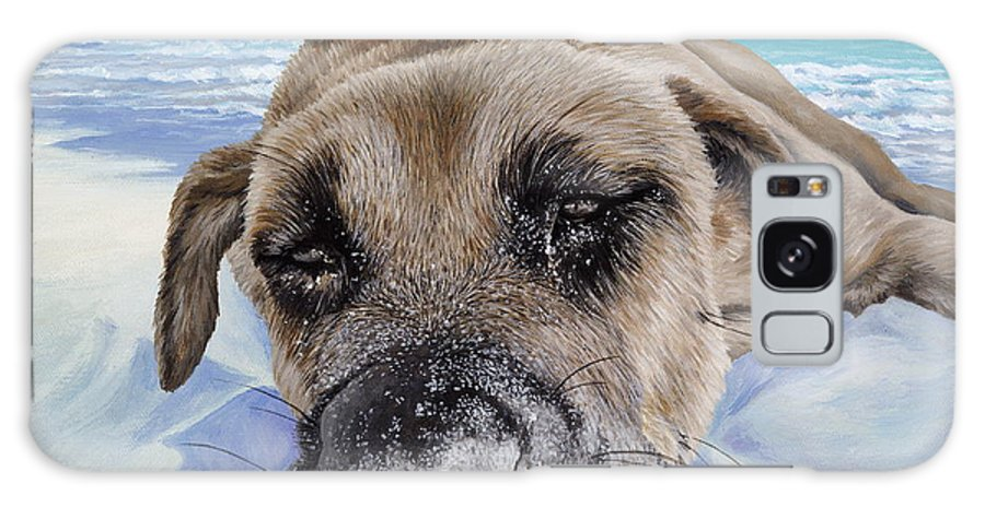 Pet Portrait Galaxy Case featuring the painting Chillin In Briland by Danielle Perry